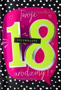 Karnet 18 Urodziny HM200-1122