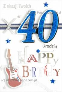 Karnet 40 Urodziny HM200-508