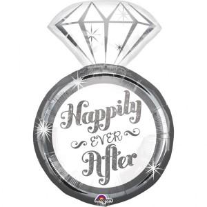 "Balon foliowy SuperShape pierścionek ""Happily Ever After"""