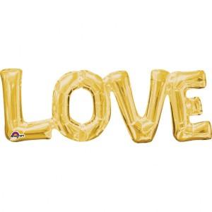 "Balon foliowy super kształt ""Love"", 63x22 cm"