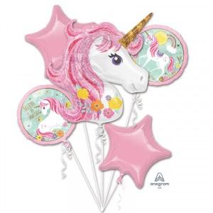 """Bukiet 5 balonów foliowych """"Magical Unicorn"""""""
