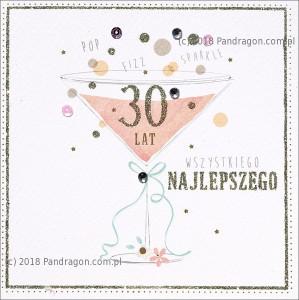 """Kartki urodzinowe - Karnet """"30 lat"""" / HM100-583"""