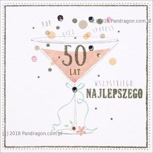 """Kartki urodzinowe - Karnet """"50 lat"""" / HM100-585"""