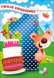 Kartki urodzinowe - Ogromna kartka urodzinowa na Roczek  / K.MEGA-102