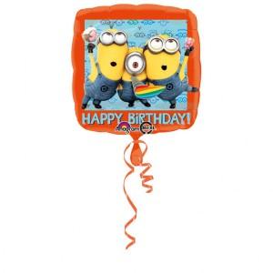 """Balon foliowy 17"""" """"Minionki- Happy Birthday"""", 43cm"""