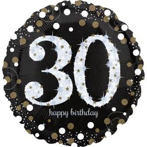 """Balon foliowy Jumbo """"30-urodziny"""", 71x71cm"""
