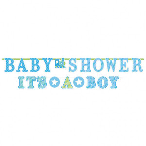 "Baner z napisem ""Baby Shower It's a boy"""
