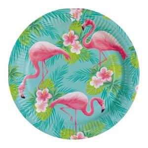 Talerze Flamingo Paradise 23cm