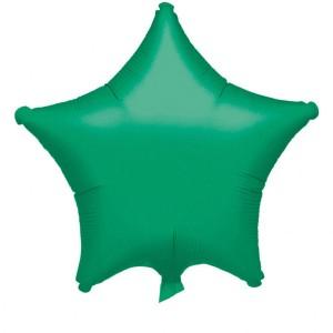 Balony foliowe Gwiazdki - Balon foliowy metalizowany - Gwiazda zielona / 48 cm