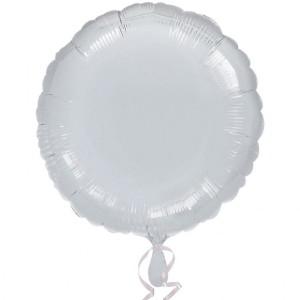 Balon foliowy srebrny metalik, okrągły 43cm