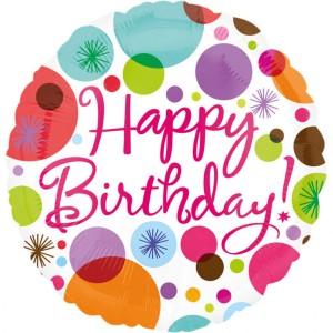 "Balon foliowy standard ""Happy Birthday"" 43cm"