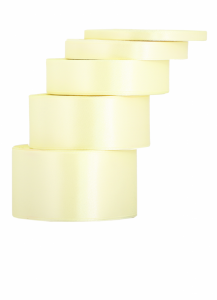 Tasiemki satynowe 12 mm - Wstążka satynowa kremowa / 12mmx32m