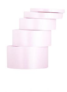Tasiemki satynowe 12 mm - Wstążka satynowa pudrowy róż / 12mm x32m