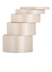 Tasiemki satynowe 6 mm - Wstążka satynowa cappucino / 6mmx32m - WYPRZEDAŻ