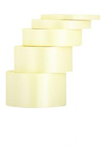 Tasiemki satynowe 6 mm - Wstążka satynowa kremowa / 6mmx32m