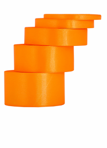 Tasiemki satynowe 6 mm - Wstążka satynowa pomarańczowa / 6mmx32m
