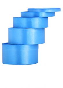 Tasiemki satynowe 6 mm - Wstążka satynowa niebieska / 6mmx32m