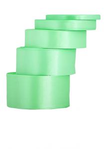 Tasiemki satynowe 6 mm - Wstążka satynowa jasnozielona / 6mmx32m - WYPRZEDAŻ