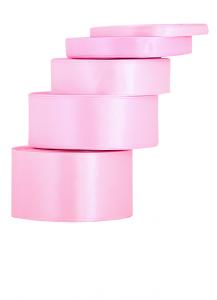 Tasiemki satynowe 38 mm - Wstążka satynowa różowa /  38mmx32m