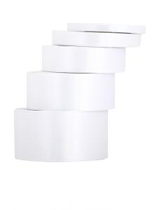 Wstążka satynowa 12mm, biała
