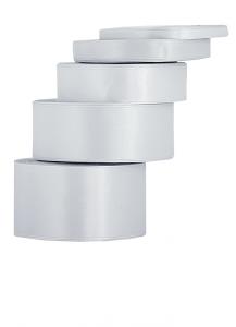 Tasiemki satynowe 12 mm - Wstążka satynowa srebrna / 12mmx32m