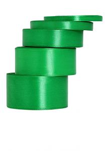 Tasiemki satynowe 50 mm - Wstążka satynowa zielona / 50mmx32m