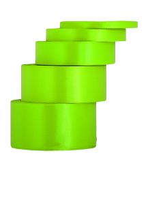 Tasiemki satynowe 38 mm - Wstążka satynowa zielone jabłuszko / 38mmx32m - WYPRZEDAŻ