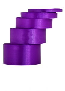 Tasiemki satynowe 12 mm - Wstążka satynowa fioletowa / 12mmx32m - WYPRZEDAŻ