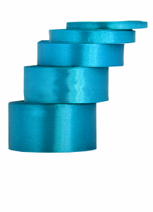 Tasiemki satynowe 50 mm - Wstążka satynowa turkusowa / 50mmx32m - WYPRZEDAŻ