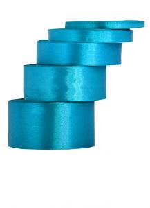 Tasiemki satynowe 25 mm - Wstążka satynowa 25mm/32mb turkusowa WYPRZEDAŻ