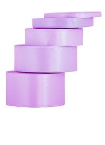 Tasiemki satynowe 25 mm - Wstążka satynowa 25mm/32mb jasnowrzosowa WYPRZEDAŻ