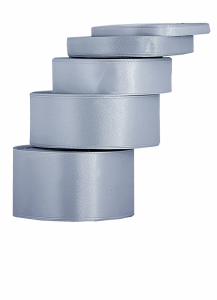 Tasiemki satynowe 38 mm - Wstążka satynowa srebrnym / 38mmx32m