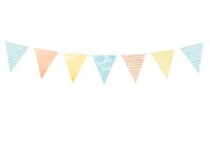 "Girlandy kształty - Girlanda flagietki ""Summer time"""