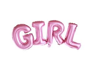 """Balon foliowy napis """"Girl"""""""