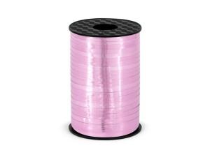 Wstążka plastikowa, różowa, 5mm/225m