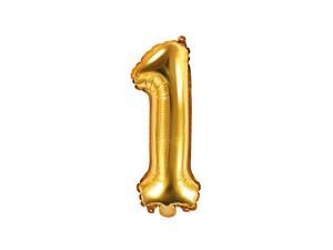 """Balon foliowy 14"""" cyfra """"1"""" 35 cm ,złoty"""