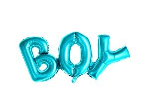 Balon foliowy Boy, 67x29 cm, niebieski