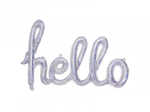 Balon foliowy Hello 72x45cm holograficzny