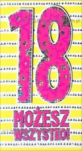 """Karnet """"18 możesz wszystko"""", HM-200-1309"""