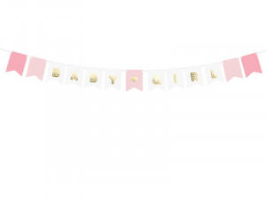 Baner Baby Girl, mix, 15x175cm