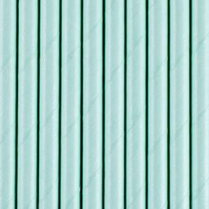 Słomki papierowe, błękit, 19,5 cm