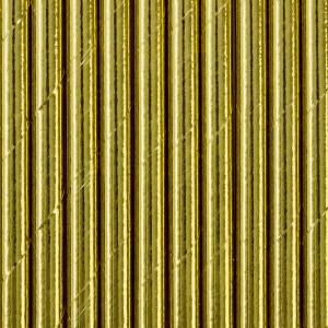 Słomki papierowe, złoty, 19,5 cm