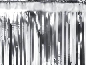 Kurtyny foliowe - Dekoracja - foliowa kurtyna Party, srebrna / 18,5x400 cm