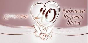 Zaproszenia na rocznicę - Zaproszenia na 40 Rocznicę Ślubu / ZRS0340