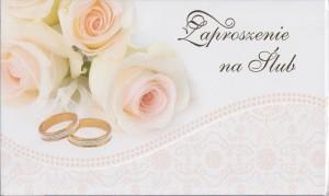 Zaproszenia ślubne gotowe - Zaproszenia ślubne / ZS_SL_36522