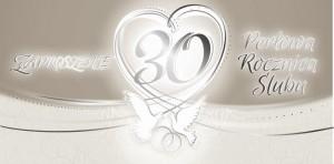Zaproszenia na rocznicę - Zaproszenia na 30 Rocznicę Ślubu / ZRS0330