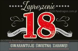 Zaproszenia na 18 urodziny - Zaproszenia na 18 urodziny / Z.C6-564