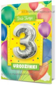 Karnet z balonem K. Balloon-3