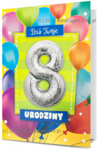 Karnet z balonem K. Balloon-8