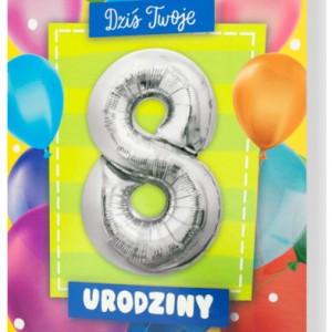 Zaproszenia na 8 urodziny